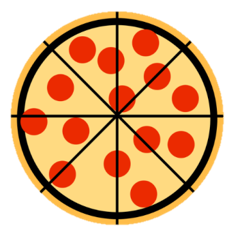 Equal Pizza slices