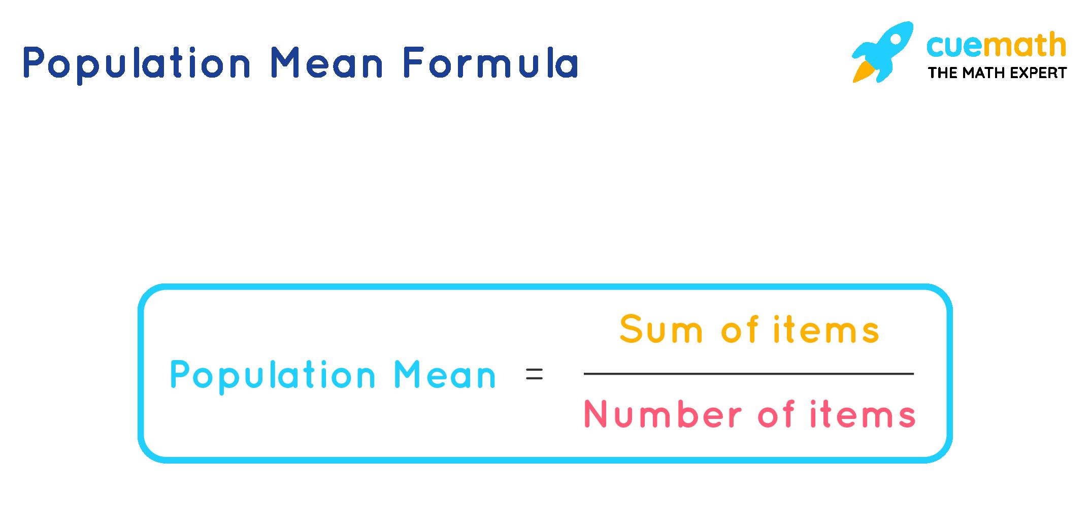 population mean formula