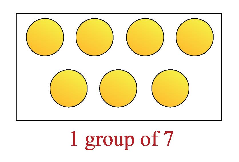 1 group of 7 circles