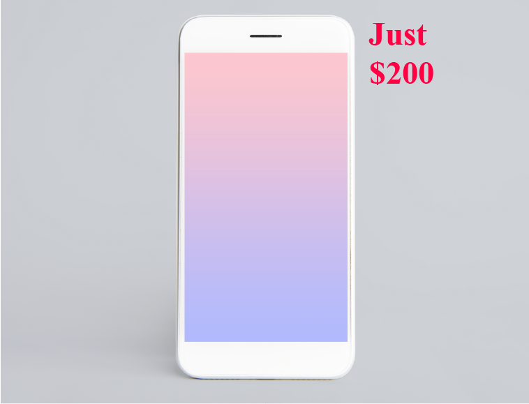 a $200 mobile phone