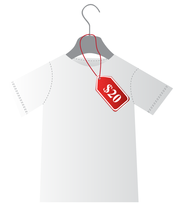 $20 for a T-shirt