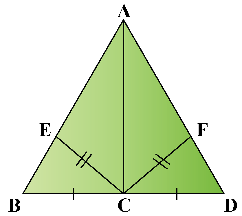 prove that the area of triangles BCE and DCF are equal.