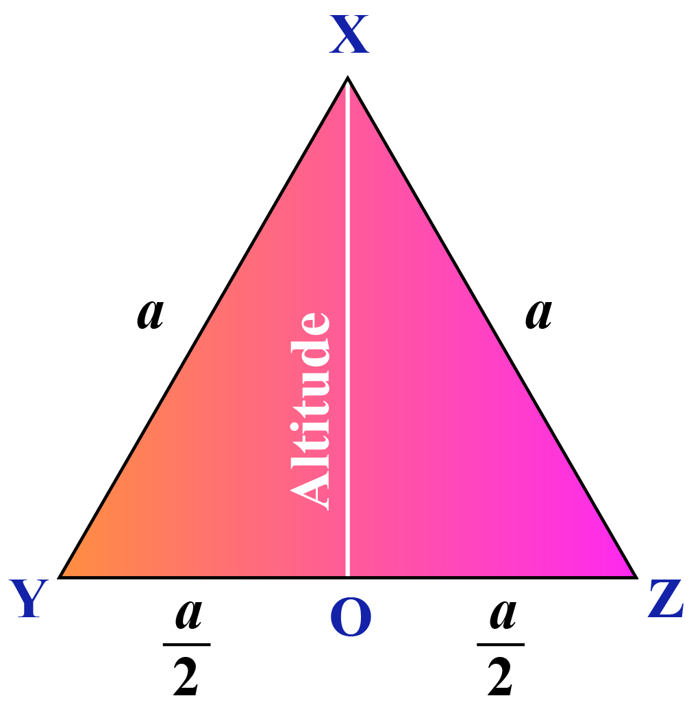 altitude in an equilateral triangle