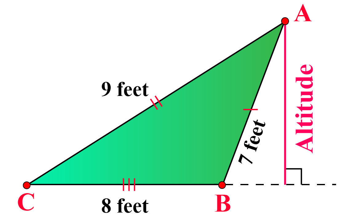 An obtuse scalene triangle