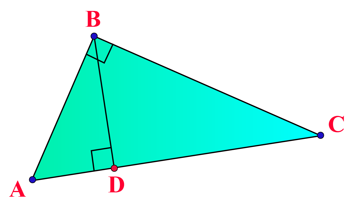 Pythagoras theorem and similar triangles