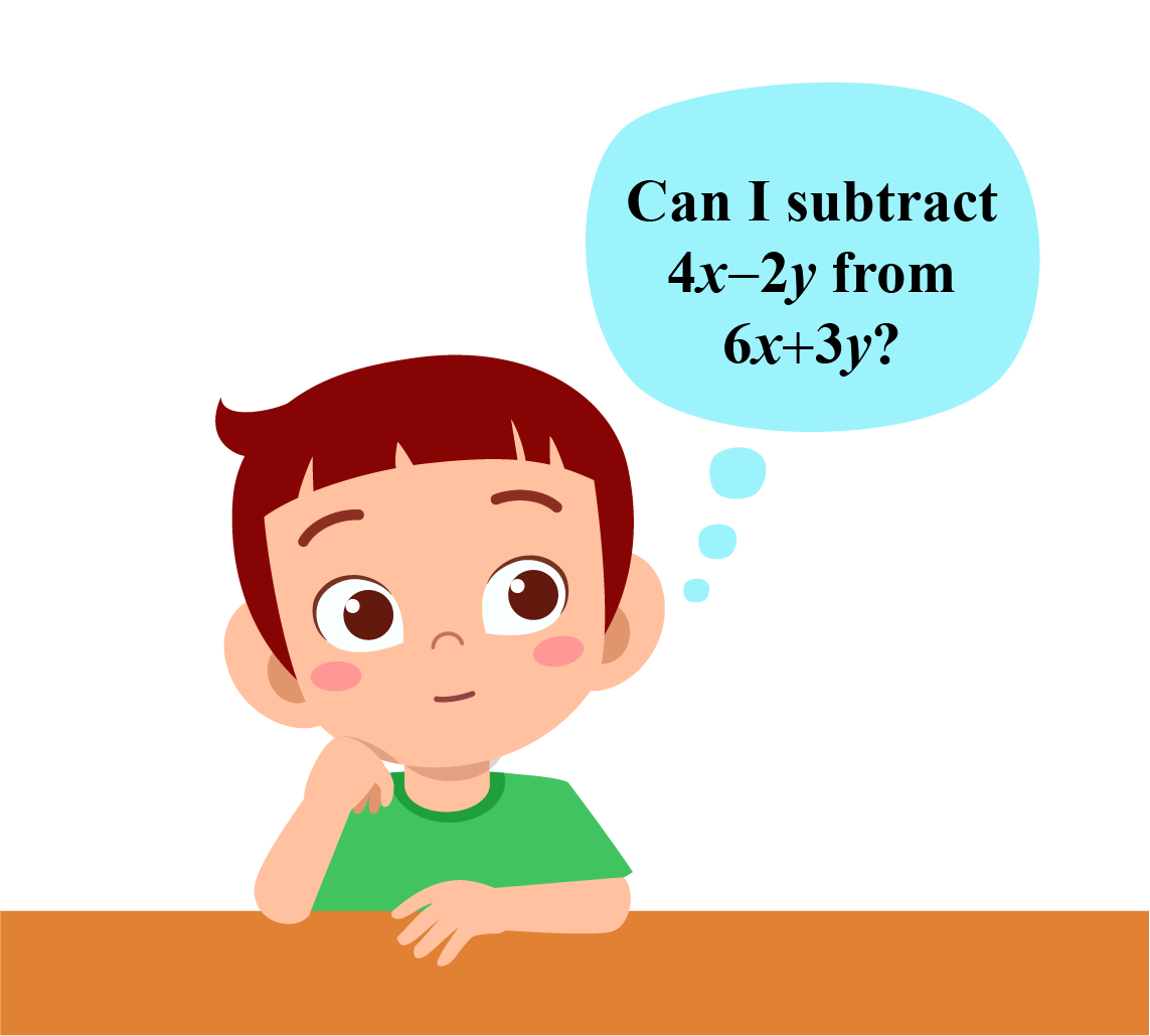 Can we subtract two algebraic expressions?