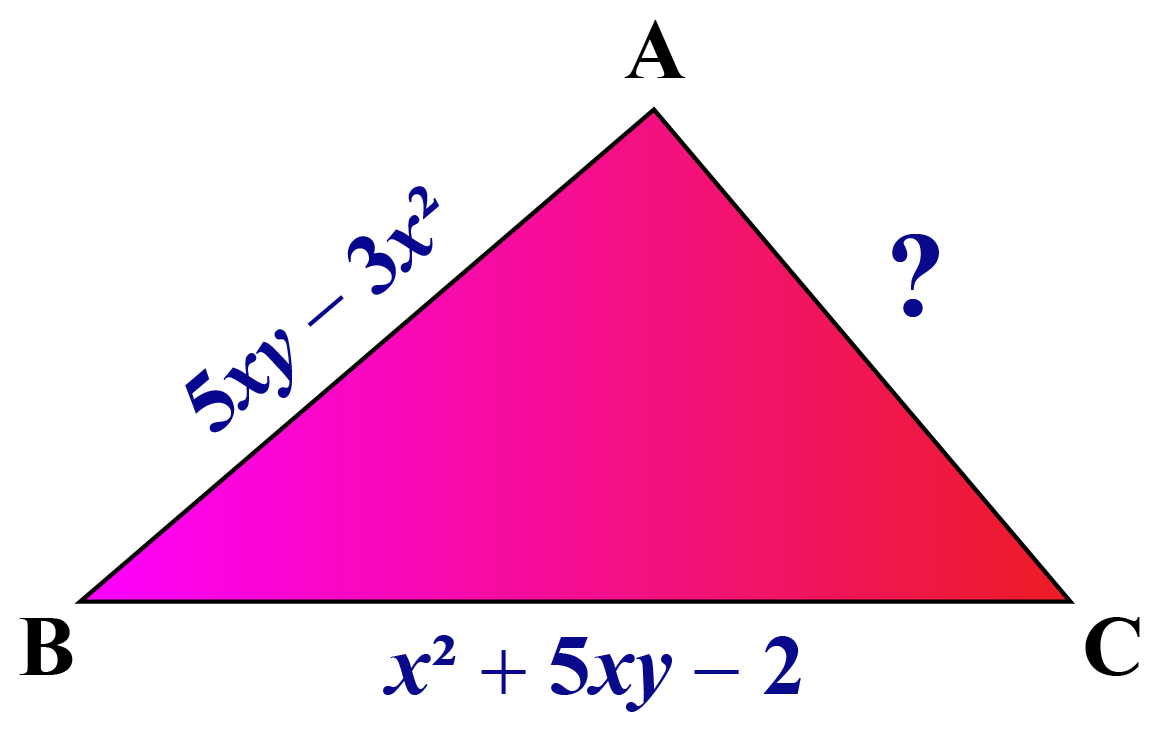 Subtraction of algebraic expression example