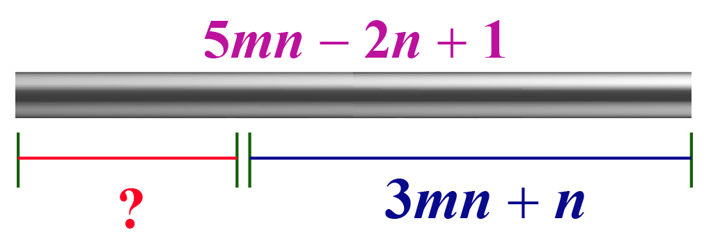 Length of the smaller part of the rod