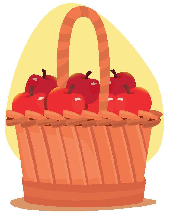 fraction of apples in basket