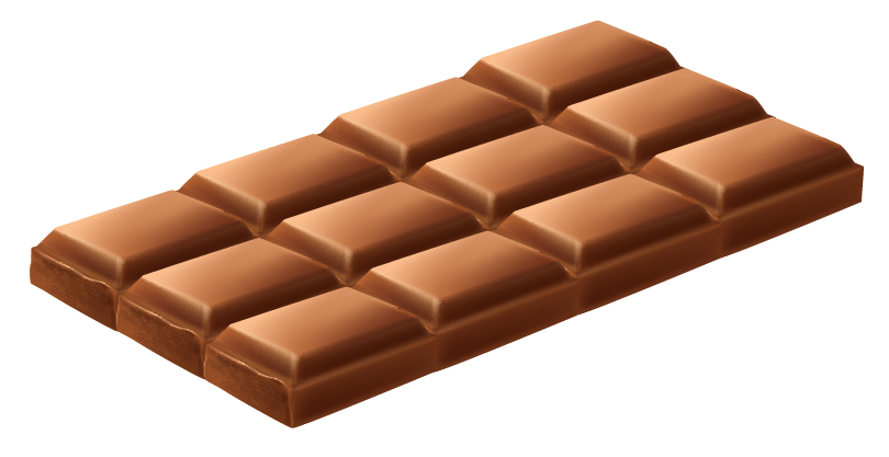 a bar of chocolate having 12 pieces to be broken into equal parts