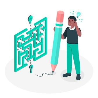 Problem solving (labyrinth) concept illustration