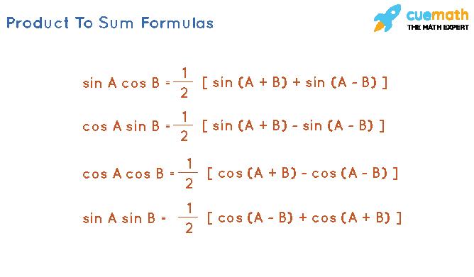 product to sum formulas intrigonometry