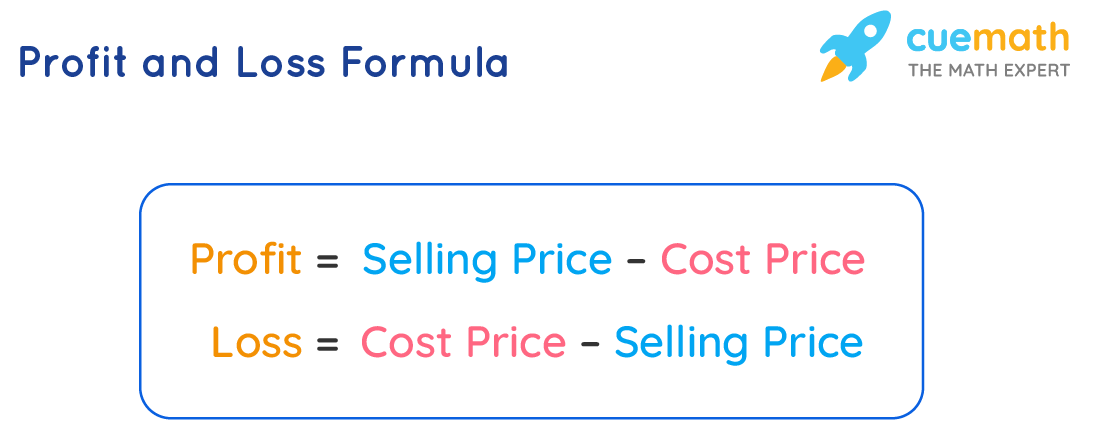 formula of profit and loss