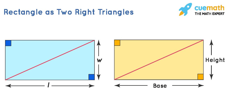 derivation of area of right triangle formula