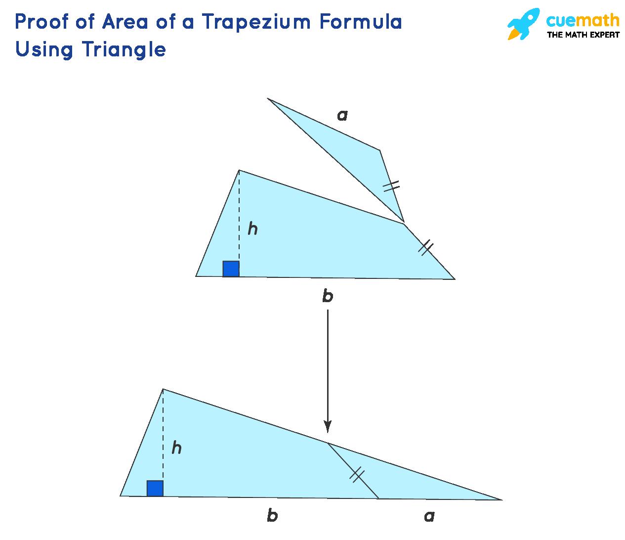 Proof of area of trapezium formula