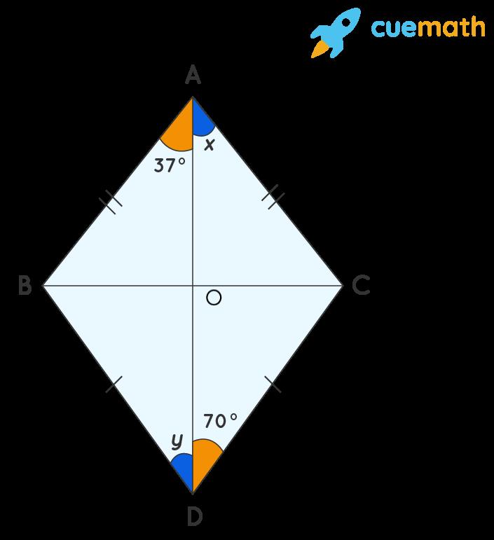 Calculate the angle x and angle y