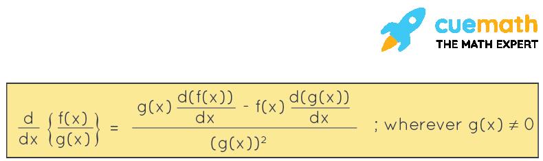 Quotient Rule Formula