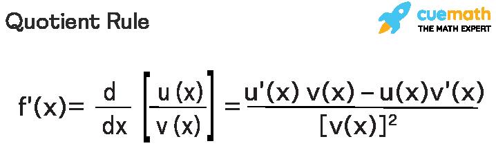 Quotient rule in differential calculus