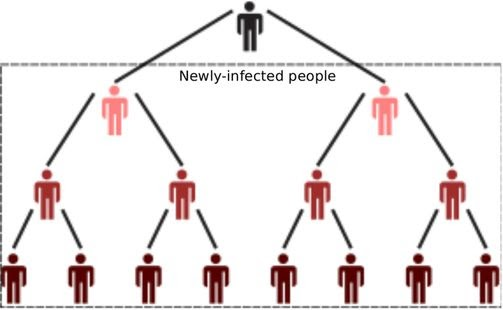 Virus Tree: How to find Common Ratio?