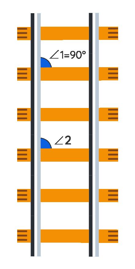 Railway Lines Intersections make Corresponding Angles