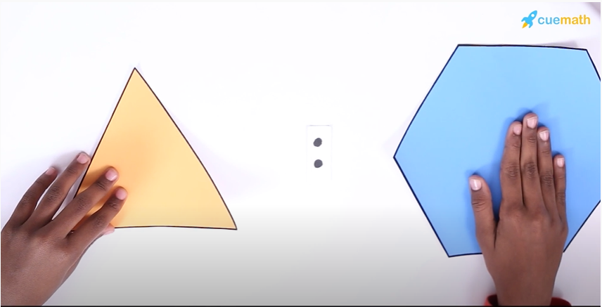 ratio of hexagon and triangle in picture riddles