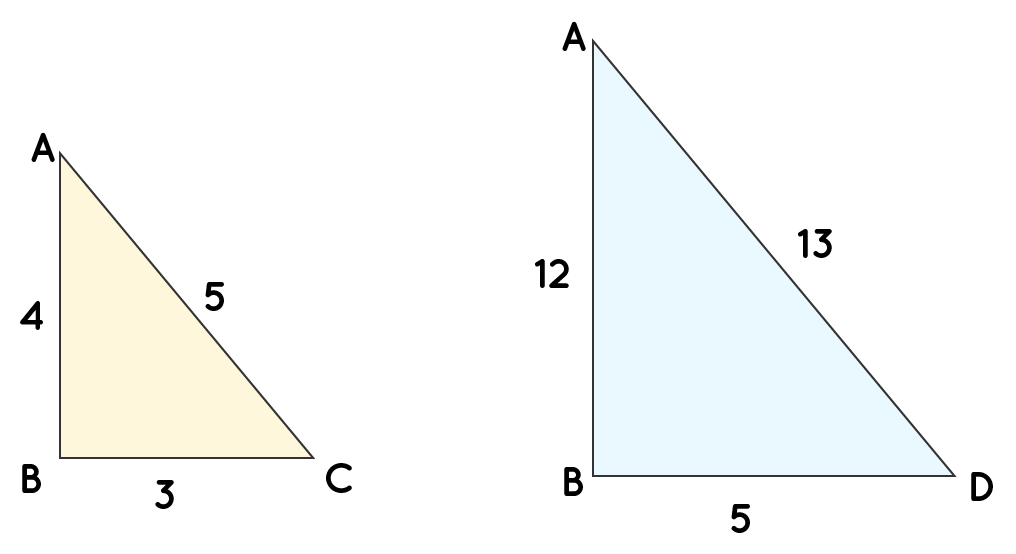 Ratio of triangle ABC to Triangle ABD