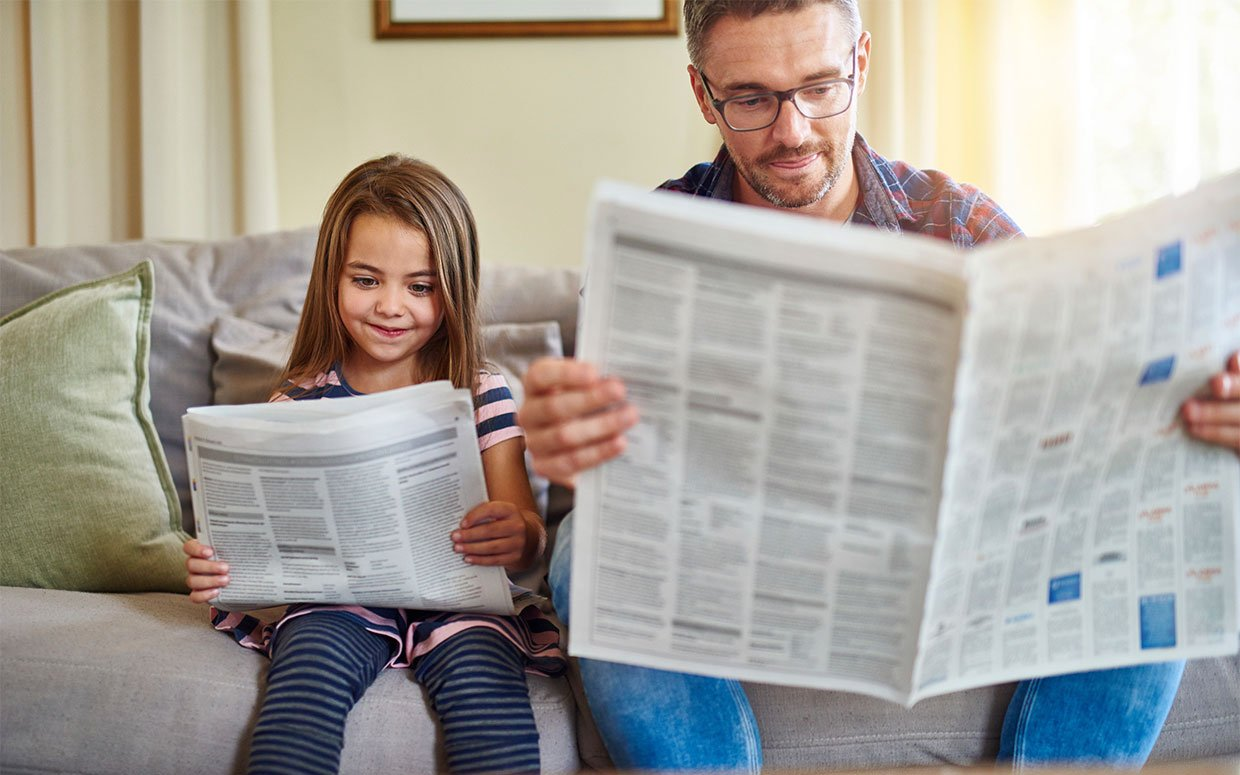 Teach your children to read the newspaper