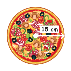 area of circular pizza