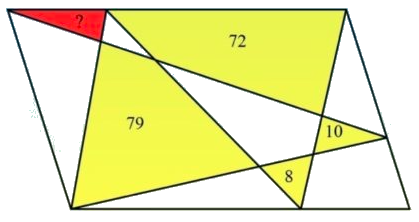 Finding area of red triangle - fun math question