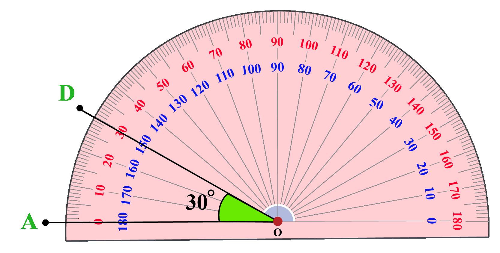 constructing 30 degree angle