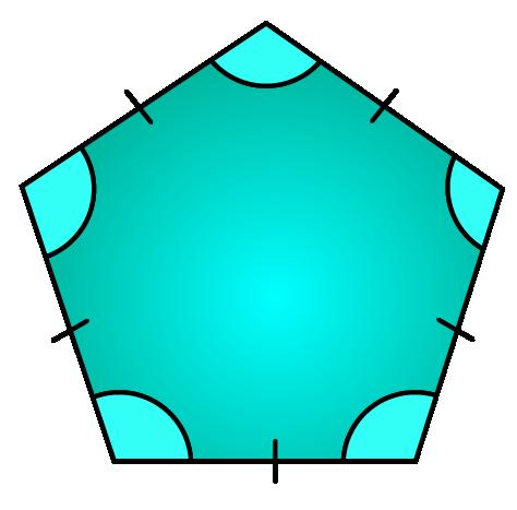 regular pentagon shape