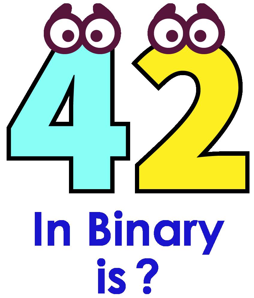 100 in binary is cartoon image
