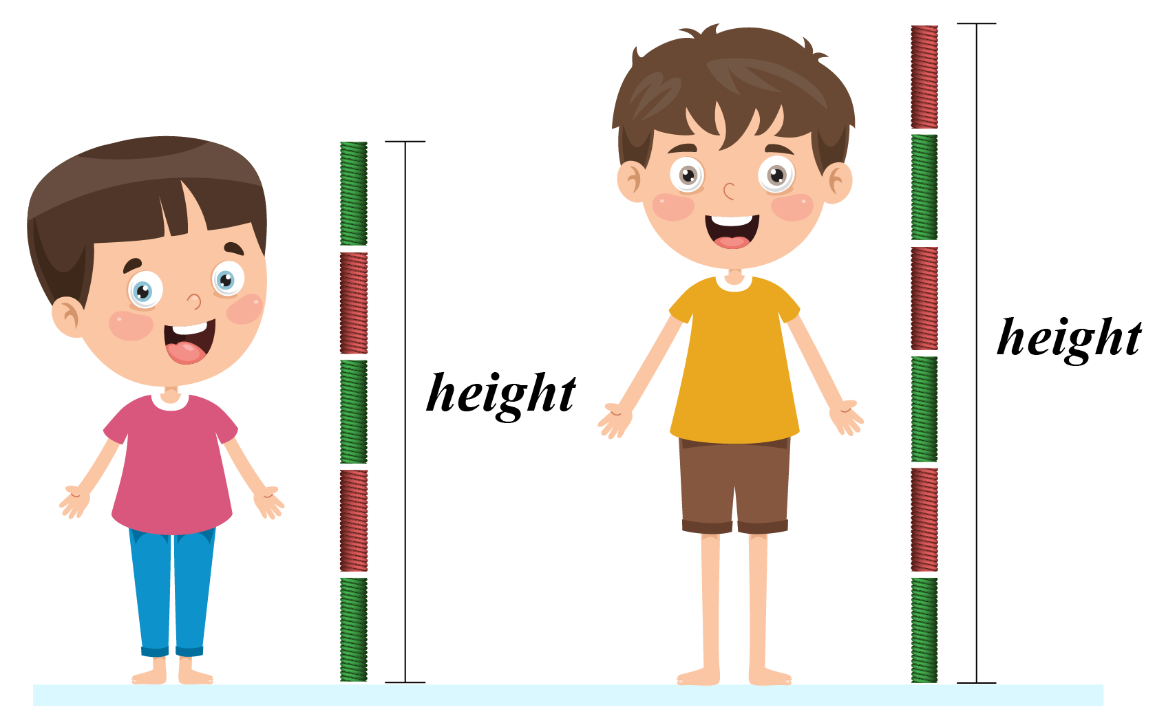 height comparison of two boys