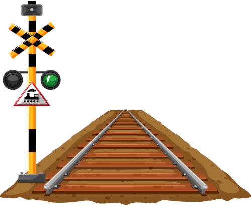 railway track straight lines