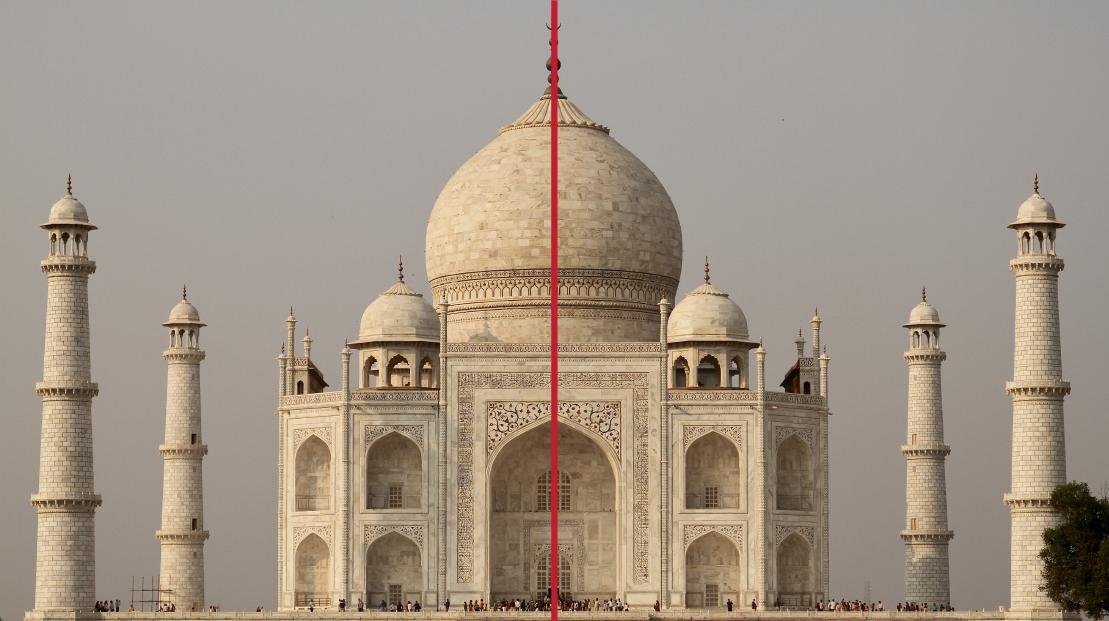 symmetry of the Taj Mahal