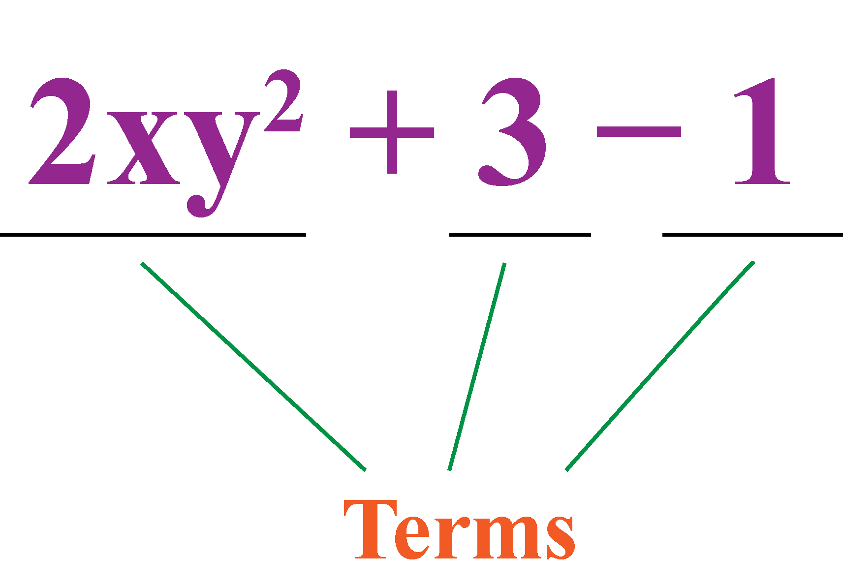 terms of polynomials