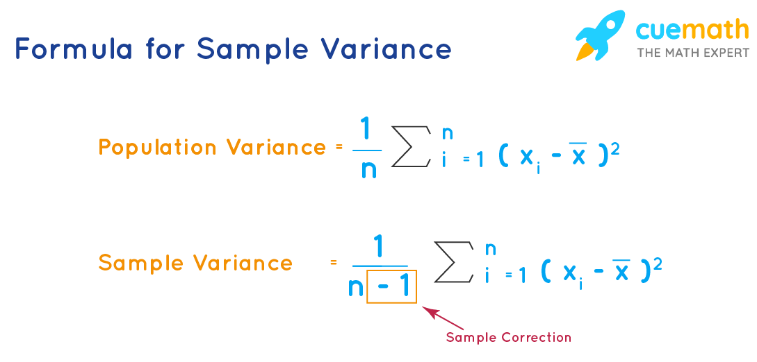 Formula to calculate sample variance