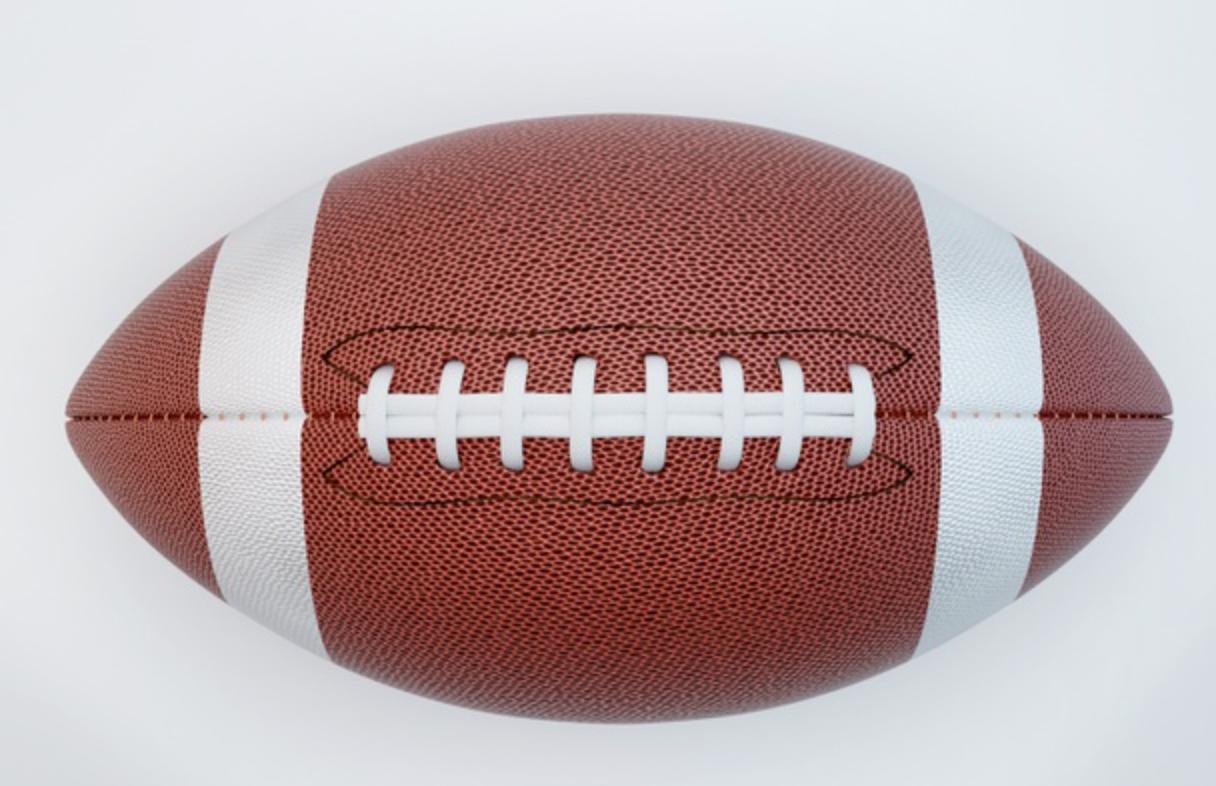 area of ellipse - example football