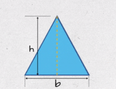 Triangle with base 'b' and height 'h'