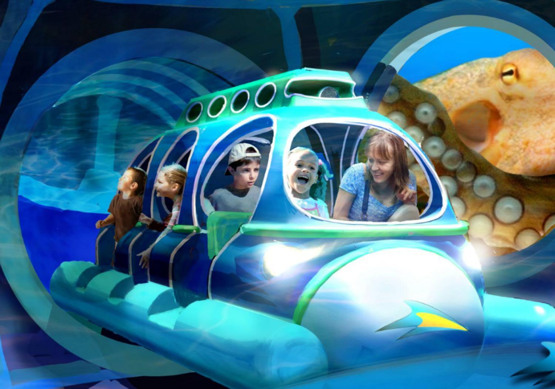 Kids enjoying in an adventurous theme park