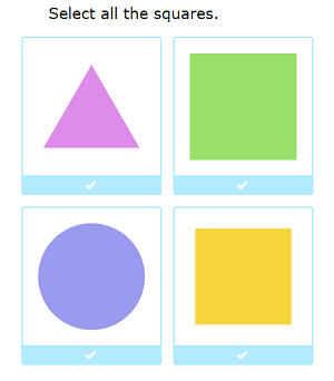 select 2d shapes