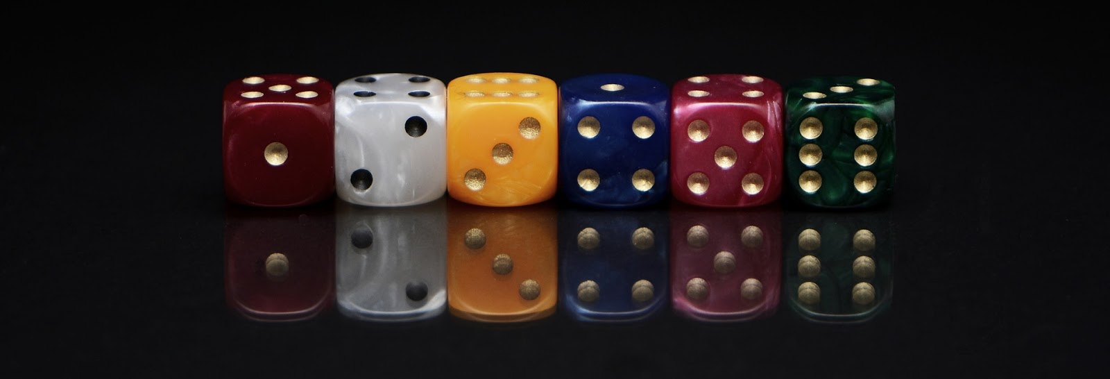 Types of Sequences: dice has different faces with sequence