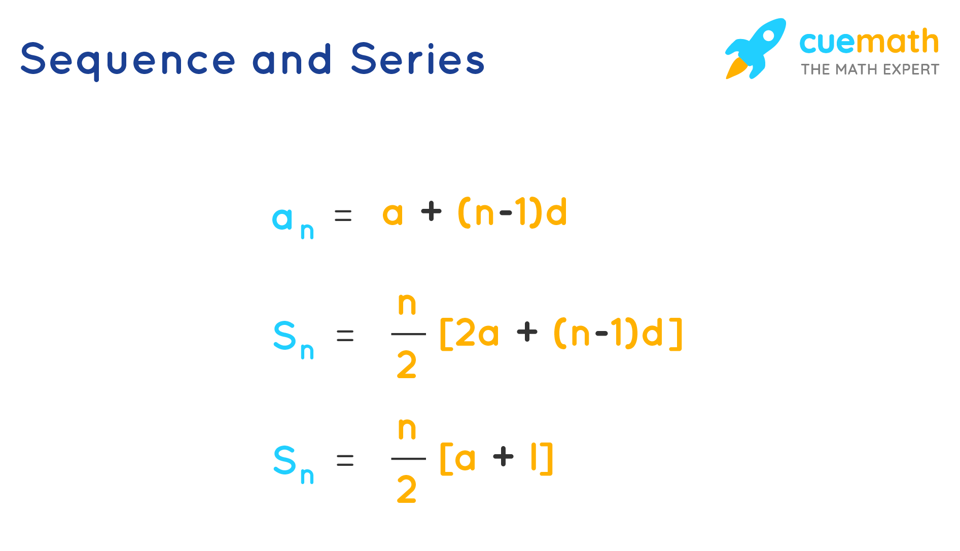 Sequence and Series Formulas