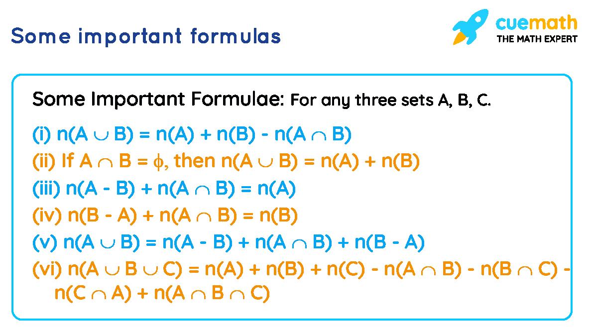 set formulas