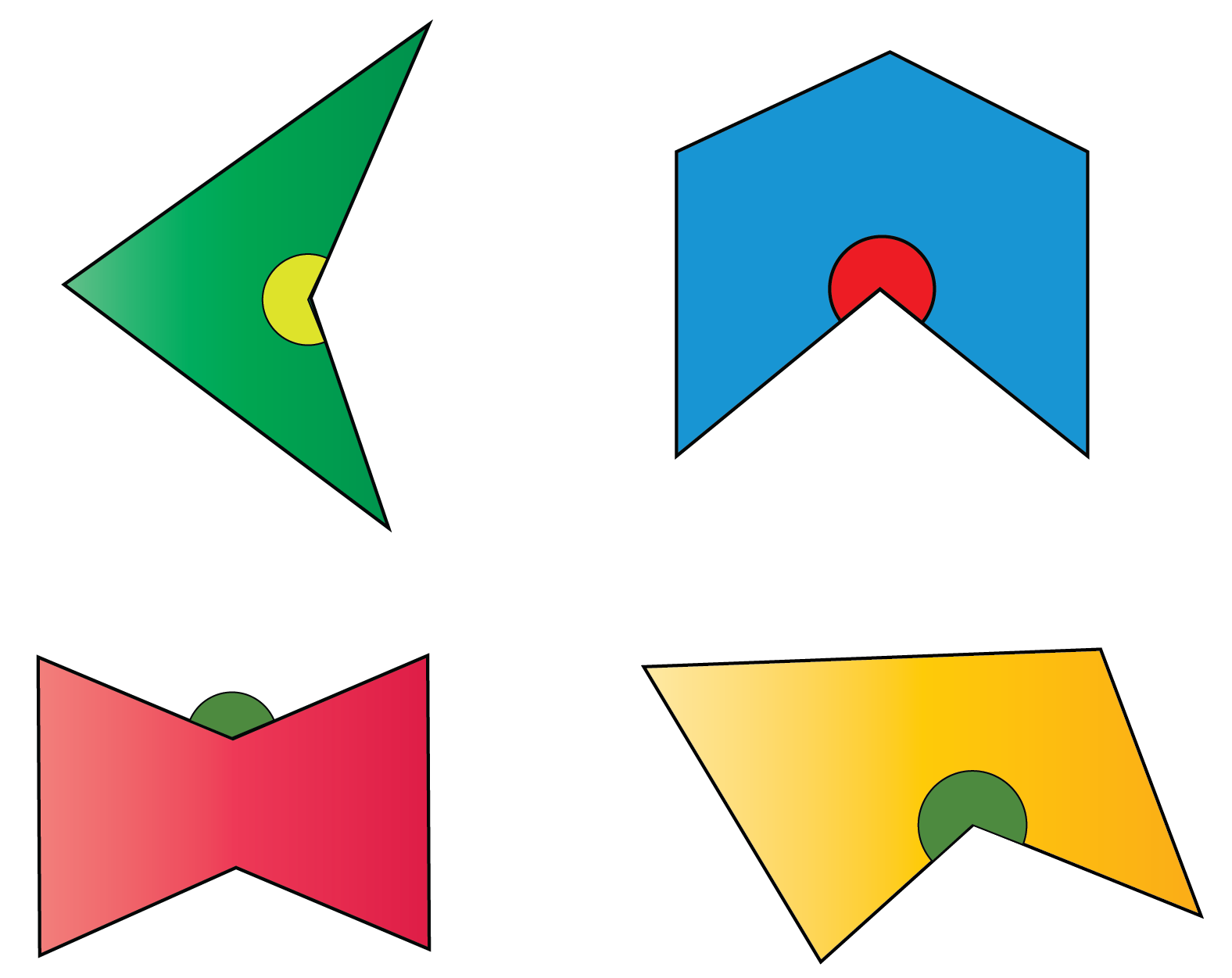 Examples of concave polygons