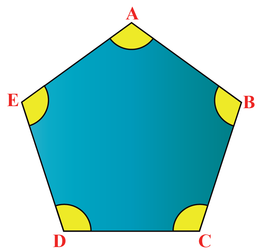 Interior angle of a pentagon