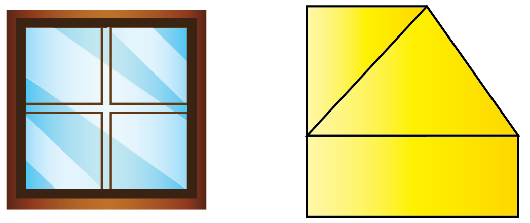 Examples of polygons - window and closed figure