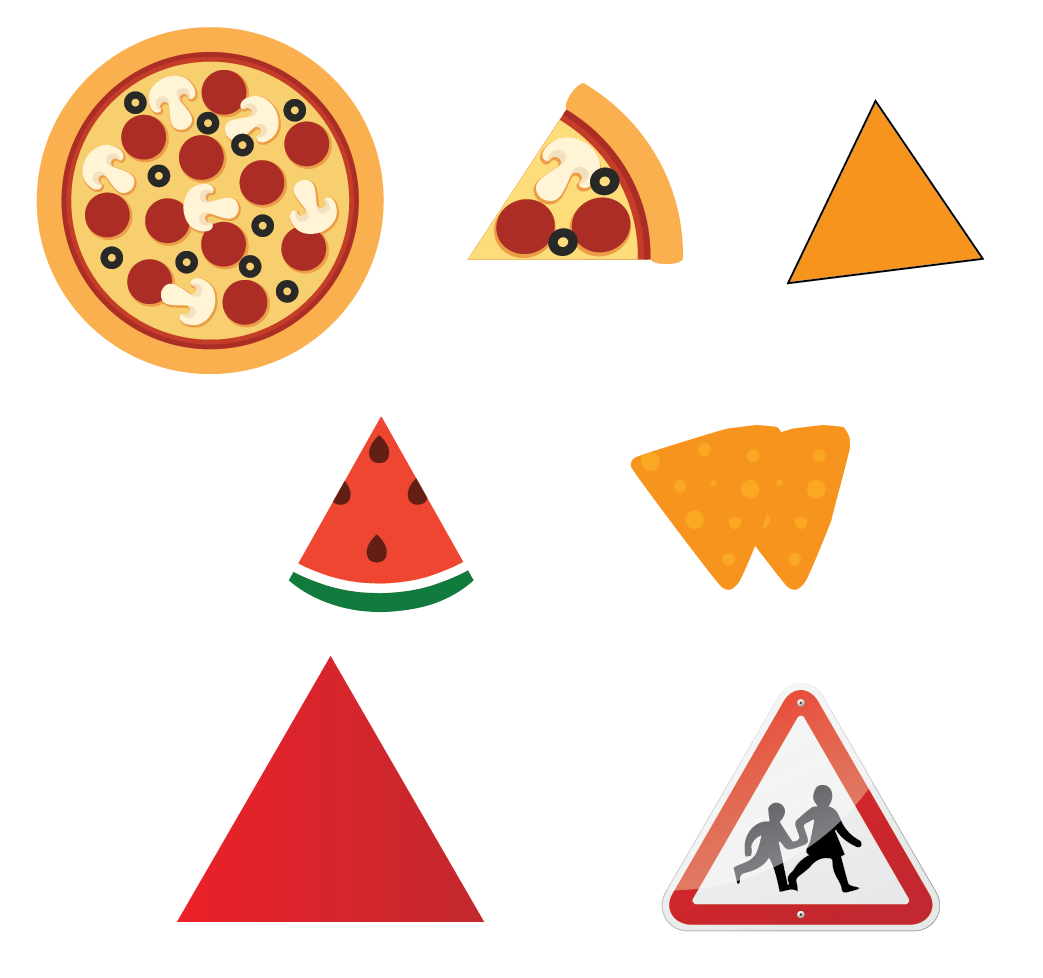 A triangle is a closed two-dimensional shape with three sides.