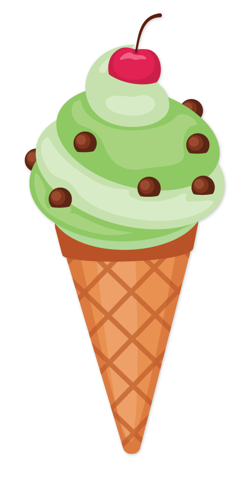 Ice cream in cone shape
