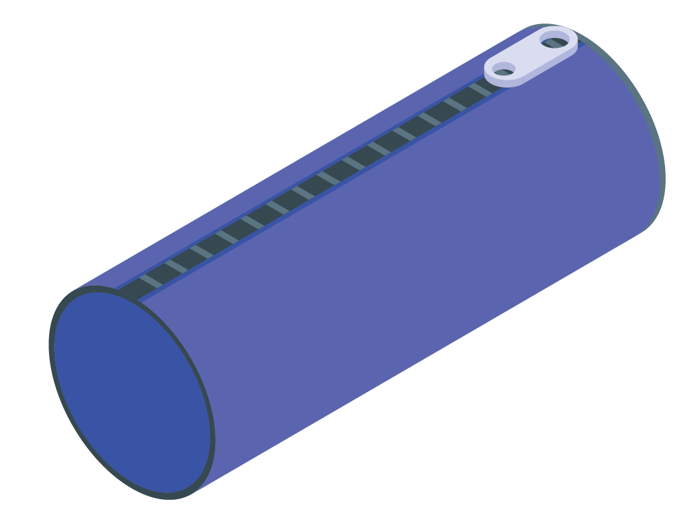 pencil box in cylinder